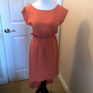 LowHigh Dress, Burnt Orange